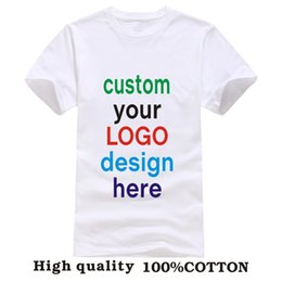 Wholesale Custom Printed Personalized T Shirts designer logo mens t shirt Advertising brand new white tshirt short sleeve blank tees