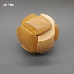 Kong Ming Luban Lock Classic 3D Wooden Ball Puzzle Game Toy