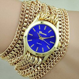 Wholesale Geneva Geneva new foreign trade bracelet watch with long chain around the table three laps Europe Ethnic Fashion Watch