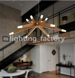 Wholesale Modern Art Brief Agnes Chandeliers Branch Agnes Pendant Lights China Ash Wooden LED Starry Sky Light Fitting