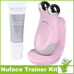 Wholesale TOP Quality Nuface Trinity Face Massager Facial Toning Anti Aging Skin Care Treatment Device Sealed PMD Pro NO NO Hair