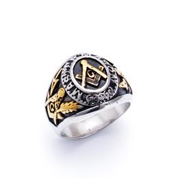 Free-Mason Brand,Titanium Unisex Ring,Gold Jewelry,Factory Directly Retail Accessories,Custom Ring