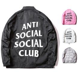 Wholesale Winter Brand ASSC Wind Proof Jacket ANTI SOCIAL CLUB Mens Coaches Jackets Hip Hop Women Duster Coat Waterproof Trench Coats