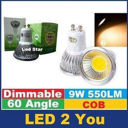 Wholesale Dimmable E27 E14 GU10 MR16 Led Bulbs Lights High Lumens cob W Led Spot Bulbs Lamp AC V V