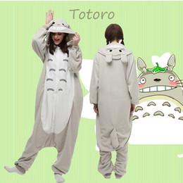 Wholesale Hot Animal Totoro Onesie Kigurumi Fancy Dress Cosplay Costume Pajamas Sleepwear Size S M L XL