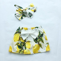 new arrival baby girls summer skirt with headband cute baby girls summer fashion skirt toddler cute bow skirt with headband sets
