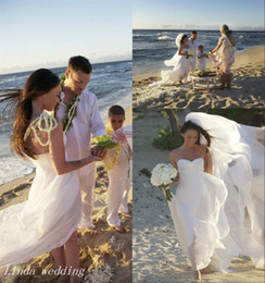 Megan Fox Wedding Dresses Beautiful White Sweetheart Neck Backless Long Chiffon Beach Celebrity Bridal Party Gowns