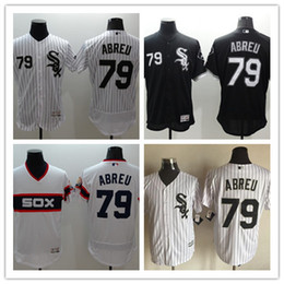 Men's Chicago White Sox Jose Abreu Flexbase Authentic Collection Jersey #79 White Black White Navy Embroidery Logo Size M-3XL