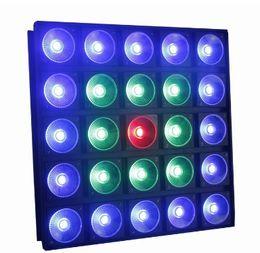 DMX512 5X5 25pc COB30W 25Head 25eye RGB 3 in 1 LED Pixel Matrix Blinder Panel Stage Background wash effect light