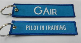 Wholesale Gair Pilot In Training Flight Embroidery Keychain x cm
