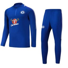 Postage free New Top quality Chelsea soccer tracksuit chandal 17 18 Chelsea football Tracksuit training suit skinny pants Sportsw