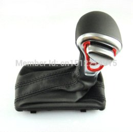 Wholesale High Quality Leather Chrome Shift Knob Fit For VW Audi A3 A4 A5 A6 knob manufacturer