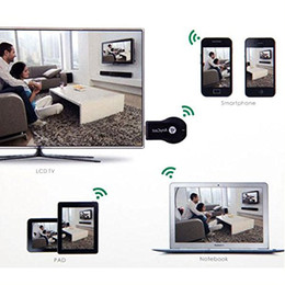 Wholesale AnyCast HD P Airplay Wifi Display TV Dongle Receiver for HDTV Easy Sharing HDMI Smart Phones Notebook Tablet PC