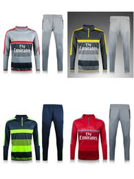 Wholesale top thai quality Arsenal jacket Training suit kits soccer Jersey ALEXIS WILSHERE GIROUD CHAMBERS OZIL football shirts