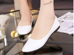 Wholesale Women shoes Spring new female candy coloration mouth flat shoes Peas shoes large size women