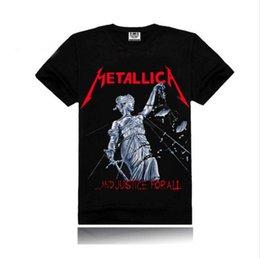Wholesale Iron maiden AC DC Metallica The Beatles Nirvana Guns N Roses Rock D Printed Men s Men T Shirt T shirt Short Sleeve Tshirt