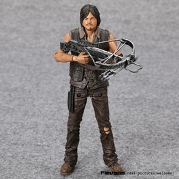 Wholesale AMC TV Series The Walking Dead Daryl Dixon With Weapon PVC Action Figure Collectible Model Toy