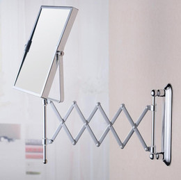 Bathroom toiletries wall mirror square folding mirror fashion simple durable bathroom products 160313#