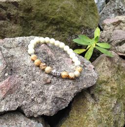 SN0417 Men Picture jasper stone bracelet hottest buddha prayer bracelet mala stone jewelry man bracelets free shipping