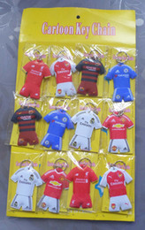 Wholesale New Sale Sheets Football Clothes Foam Padded Key Ring Keyring Mix Loose Designs