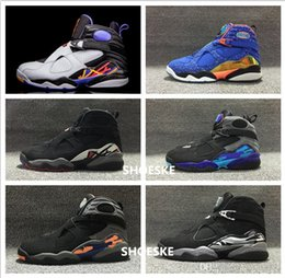 Wholesale Air Retro Aqua Black Purple Blue Men Basketball shoes retro Phoenix Sun Chrome Playoffs Black Blue Size