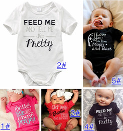 Wholesale Newborn INS Baby Boys Rompers Costumes Lovely Child Letters Printed Jumpsuit One piece Romper Cotton hight quality