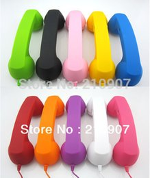 Wholesale Anti radiation Retro Telephone Receiver Handset Earphone for For Apple iPhone Sumsang Mobile Phone