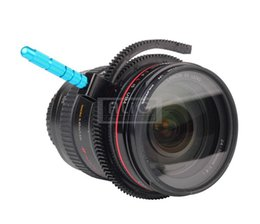 Wholesale-2016 New Follow Focus Gear Ring Focusing Belt with Aluminum Alloy Grip for DSLR Camcorder Rig Camera Accessories