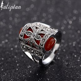 Wholesale Medieval Style Vintage Retro Peacock Rings Anels For Women Bohemia Antique Silver Plated AA1921