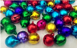 Wholesale party Supplies Colorful Iron Loose Beads Small Jingle Bells Christmas Decoration Pendants DIY Crafts Handmade Accessories