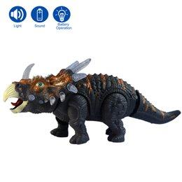 Wholesale bb Fully automatic Electronic plastic Godzilla Jurassic Park robot sound flash walk electronic Dinosaur Triceratops model toy