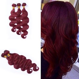 New Arrival Wine Red Pure Color Hair Bundles Brazilian 9A Human Hair #99J Body Wave Hair Weaves Weft Burgundy Extensions 3Pcs Lot