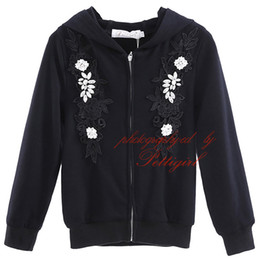 Pettigirl New Girl Long Sleeve Coats For Spring And Autumn Hoodies Sweatshirts With Crystal And Flowers Print Kids Outwear OC90124-536F