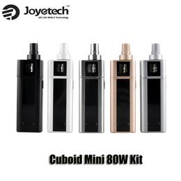 Wholesale Authentic Joyetech Cuboid Mini Kit W VW Temperature Control Box Mod mAh Built in battery Top filling airflow control ml Atomizer