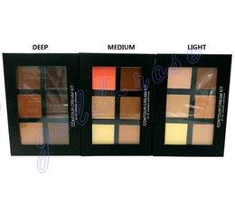 Wholesale HOT Makeup Face Ana Contour Cream Kit LIGHT MEDIUM DEEP Colors DHL GIFT
