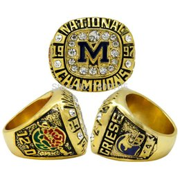 Wholesale New Arrival Michigan Wolverines Men s Football NCAA National Championship Ring Size