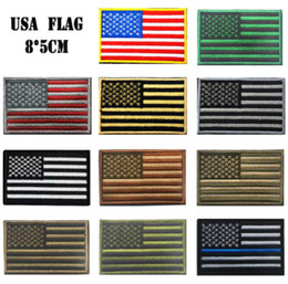 3.15 inch 3D Embroidered Pacth with magic tape Multicolour American Flag Outdoor Army Armband patch Sew On Patch spersonality GPF-111