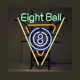 Neon Light Sign. LED sign New eight ball Neon Beer Sign Bar Sign Real Glass Neon Light Beer Sign 17