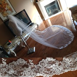 New High Quality Best Sale Chapel short White Ivory Lace Edge veil Bridal Head Pieces For Wedding Dresses