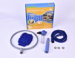 Wholesale 2016 Woof Washer Pet Dog Bathing Cleaner Shower Kit Gently clean Grooming Tools With Package Gloves Pocket Hse