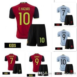 Wholesale Belgium kids E if Jersey E hazard homered away blue luk AK UK OM pan YT quality Belgium children are also football is RTS