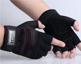 Wholesale-2016 new arrival Weight Lifting Gym Gloves Workout Wrist Wrap Sports Exercise Training Fitness training