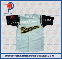 Wholesale 2016 On Sale Excellent Quality Blue White Black Stylish Baseball Uniforms For Teams In Australia Fast Delivery DHL