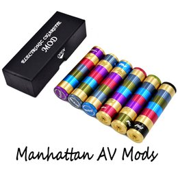 Fuhattan v2 en Ligne-High Quality Manhattan AV Mods E Cigarette Mods Raibow AV Manhattan Mod Ringer 22mm Diamètre 510 fil VS mods Fuhattan V2