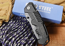 Wholesale Cheapest COLD STEEL HY217 Utility Pocket Folding Knives Cr17Mov HRC Aluminum Handle Titanium Tactical Camping Hunting Survival EDC Tools