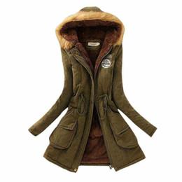 Acheter en ligne Hoodie de la fourrure pour les femmes-2016 Épaissir chaud fourrure Vestes d'hiver de col pour Long Down Parka Taille Plus de femmes nouvelles femmes 3XL Parka à capuche Parkas pour les femmes