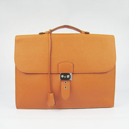 Real Leather Men Business Bag Briefcase Bag Key&Lock 2Colors Fashion Brand Bag 5A Grade Gift Package(Card,Dust Bag)#2813
