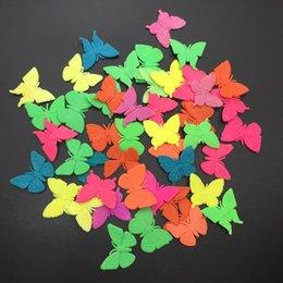 Wholesale Small Colorful Butterflies - Wholesale EVA Grow Up Toy Small Size Colorful Butterfly Shape Kids' Favor Toy Aquarium Home Decoration Free Shipping