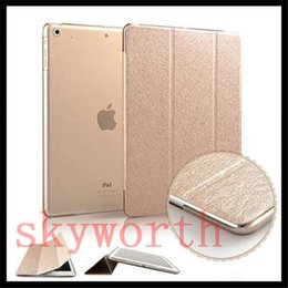 Wholesale Slim Silk pattern ipad Pro mini4 Magnetic smart cover front back case for ipad air stand