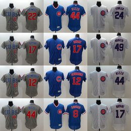 Wholesale Mens Elite Chicago Cubs Kris Bryant Anthony Rizzo Jake Arrieta Andre Dawson Kyle Schwarber Flexbase Baseball Stitched Jerseys